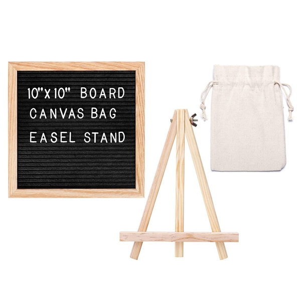 Felt Letter Board 10 x 10 inch with 340 Letters