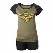 Legend of Zelda Skyward Sword Female Royal Crest Shortama Large Nightwear Set