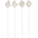 Sitting Cherub on a Rose Stick Pack Of 12