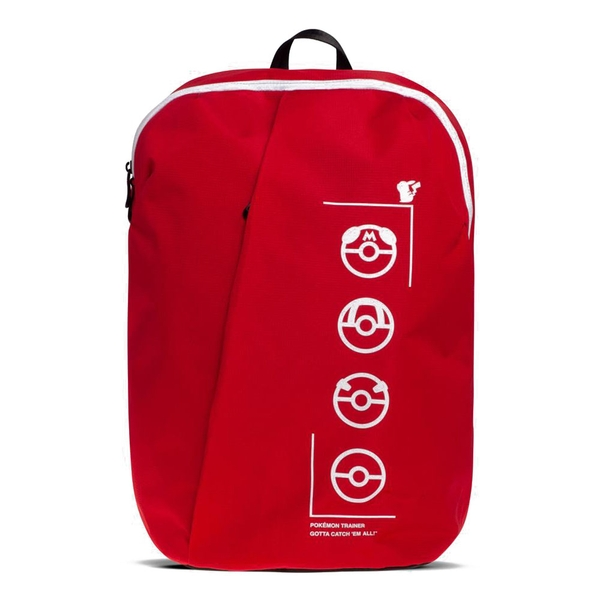 Pokemon - Technical Trainer Backpack - Red/Black