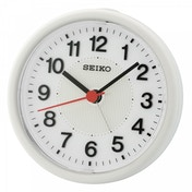Seiko QHE159H Beep Alarm Clock with Flashing Alarm White
