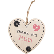 Thank You Mum Hanging Heart Sign