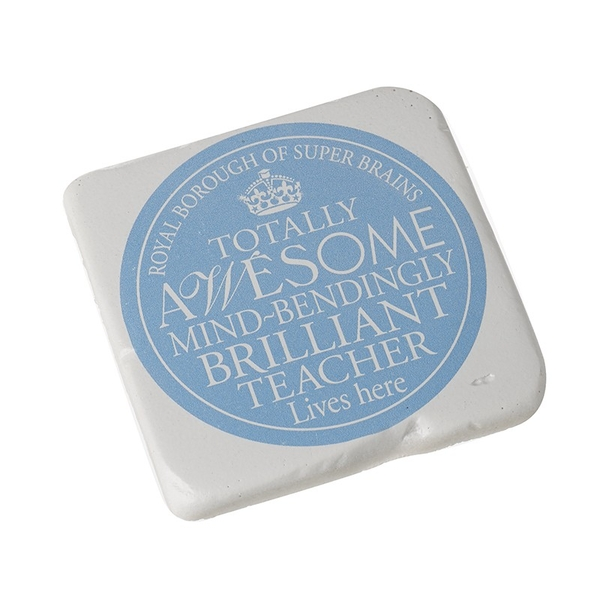 Square Coaster  Brilliant Teacher By Heaven Sends