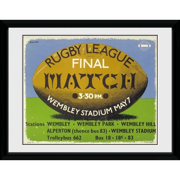"""Transport For London Rugby 12"""" x 16"""" Framed Collector Print"""