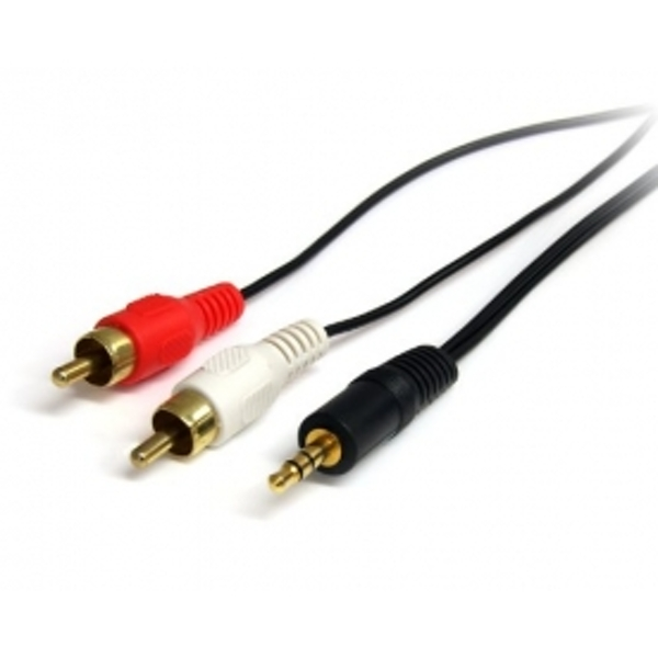 Startech 6 ft Stereo Audio Cable - 3.5mm Male to 2x RCA Male
