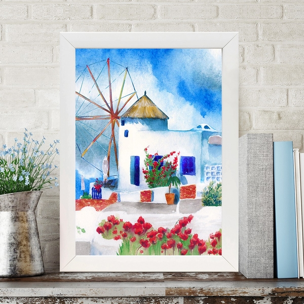 BC21096017848 Multicolor Decorative Framed MDF Painting