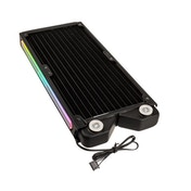 Raijintek Teos RGB LED Dual Fan Copper Radiator - 240mm