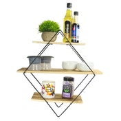 3 Tier Diamond Floating Shelf | M&W