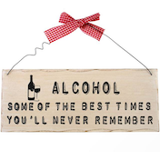 Alcohol Hanging Sign