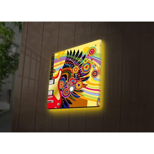 2828DACT-30 Multicolor Decorative Led Lighted Canvas Painting