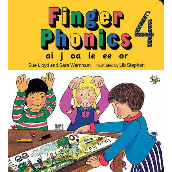Finger Phonics book 4: in Precursive Letters (BE) by Sue Lloyd, Sara Wernham (Board book, 1994)