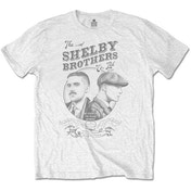 Peaky Blinders - Shelby Brothers Circle Faces Men's Medium T-Shirt - White