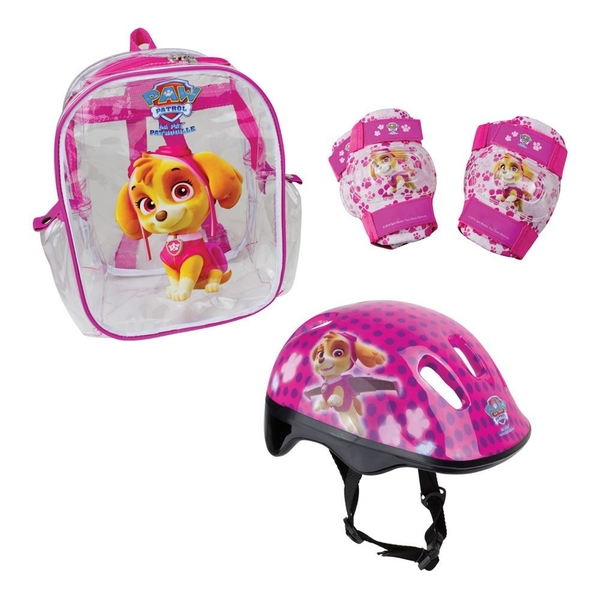 Paw Patrol Skye Helmet, Knee Pads, Elbow Pads & Bag Protection Pack