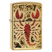 Zippo Scorpion Shell High Polish Brass Regular Lighter