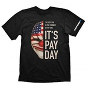 Payday 2 Mens Dallas Mask Large T-Shirt, Black