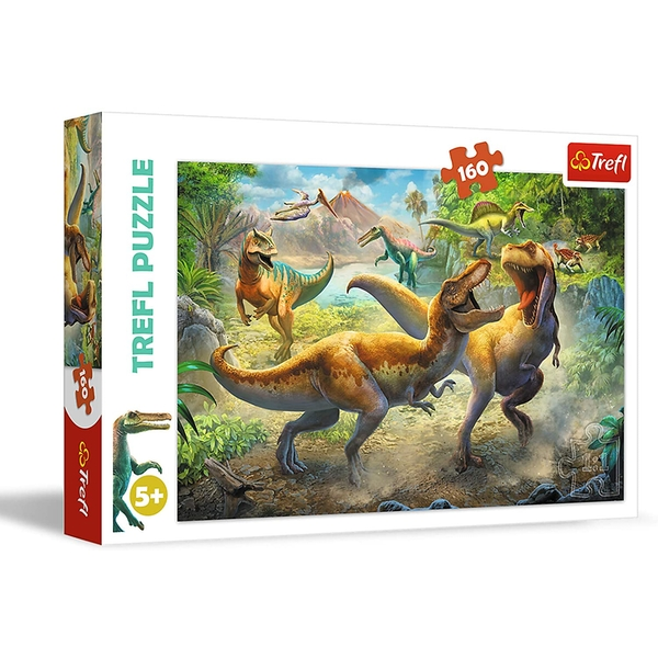 Fighting Tyrannosaurs Jigsaw Puzzle - 160 Pieces