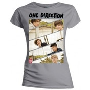 One Direction Band Sliced Skinny Grey TS: Small