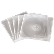 Hama Slim CD Box, PP, pack of 20, transparent