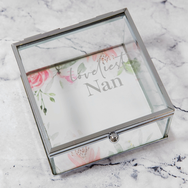 Loveliest Nan Glass Trinket Box