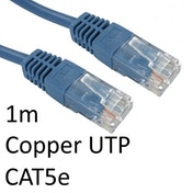 RJ45 (M) to RJ45 (M) CAT5e 1m Blue OEM Moulded Boot Copper UTP Network Cable