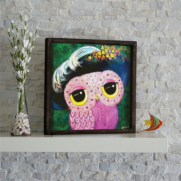 KZM666 Multicolor Decorative Framed MDF Painting
