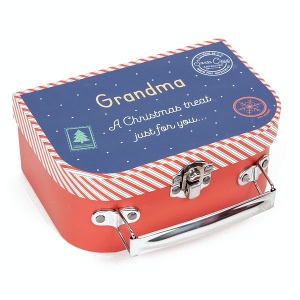 Grandma A Christmas Treat Just For You Suitcase Gift Box