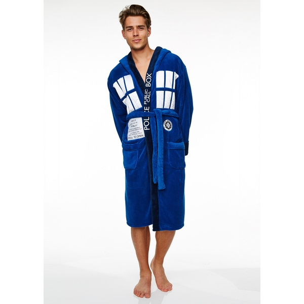 Doctor Who Tardis Adult Fleece Bathrobe