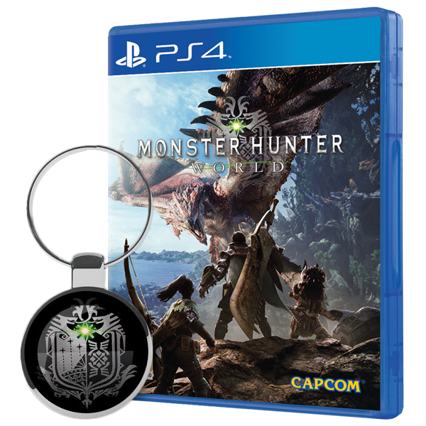 Monster Hunter World + Keyring PS4 Game