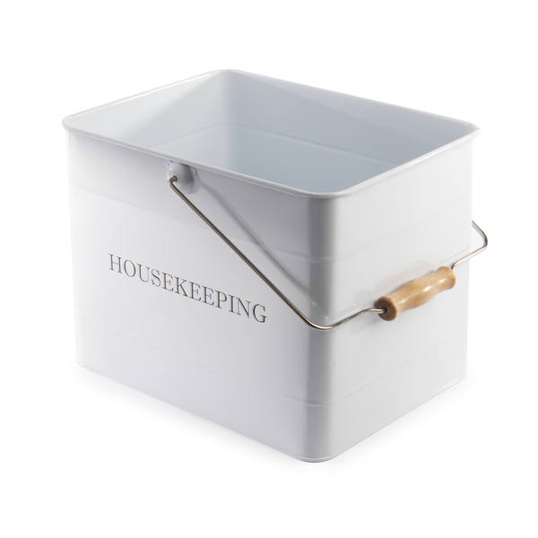 Vintage Housekeeping Caddy | M&W White