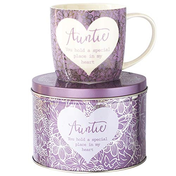 Arora 7050 Said with Sentiment Mug & Tin-Auntie, Ceramic
