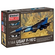 Minicraft Models USAF F-16C Fancy Falcons 1:144 Scale Model Kit