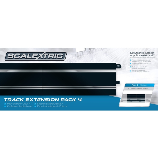 Standard Straights Track (Set Of 4) Scalextric Extension Pack 4