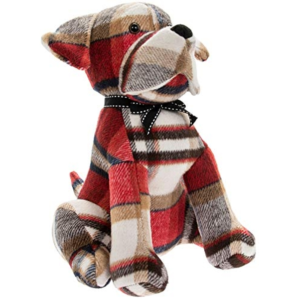 Red Check Dog Doorstop By Lesser & Pavey