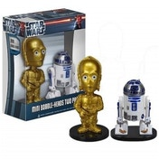 Star Wars C-3PO & R2-D2 ULTRA Mini Wacky Wobbler Bobble Head 2Pk