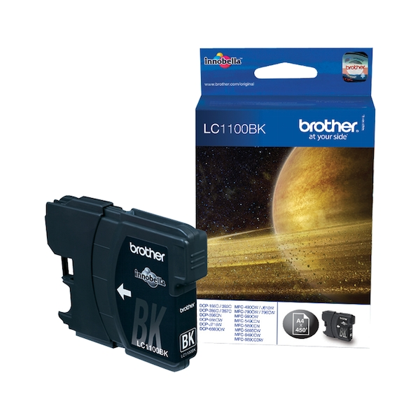 Brother LC-1100BK Ink cartridge black, 450 pages, 10ml