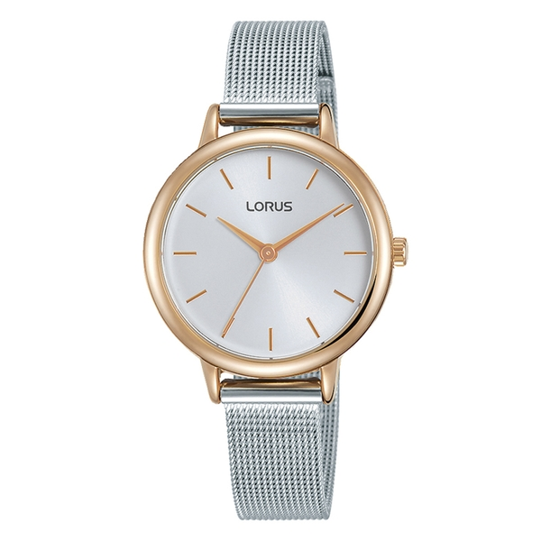 Lorus RG224PX9 Ladies Watch with Polished Rose Gold Plated Case