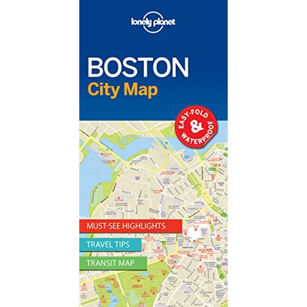 Lonely Planet Boston City Map  Sheet map, folded 2017