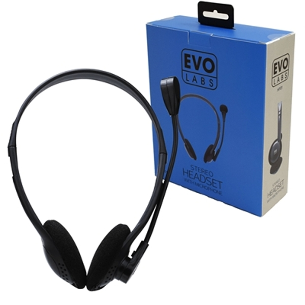 Evo Labs HP01 3.5mm Headset with Mic