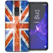 CASEFLEX SAMSUNG GALAXY S9 RETRO UNION JACK FLAG CASE / COVER (3D)