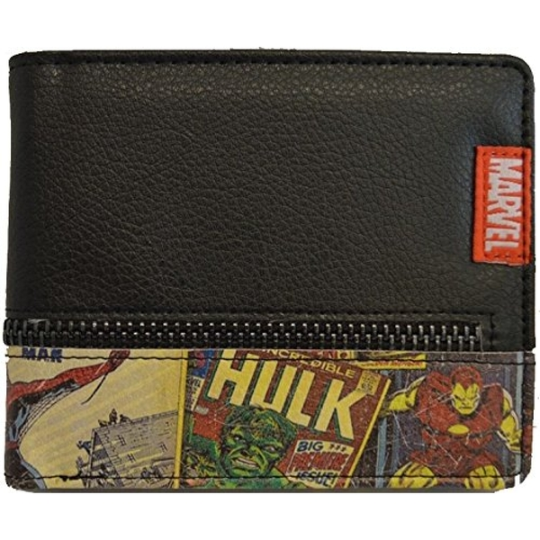 Marvel Retro Comic Wallet with Outside Zip