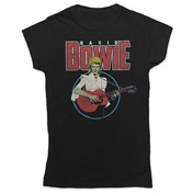 David Bowie - Acoustic Bootleg Women's Large T-Shirt - Black