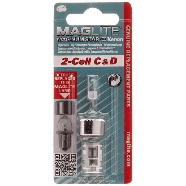 Maglite LMSA201 Xenon Replacement Bulb for 2C- and D-Cell Torches