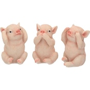 Three Wise Pigs Figurine