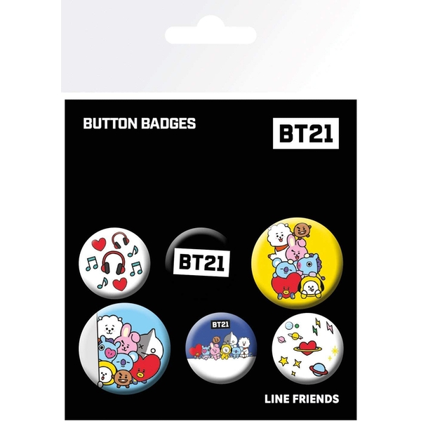 BT21Pack of Youth Pins Unisex