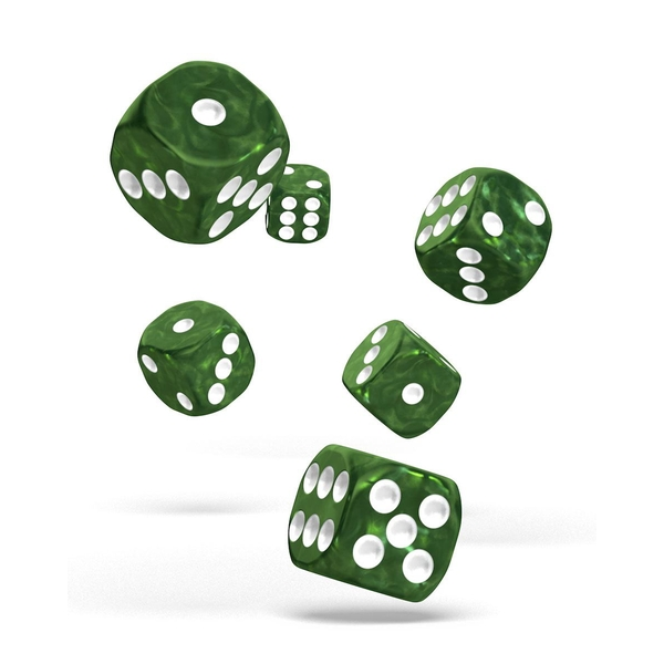 Oakie Doakie Dice D6 (Marble Green)