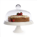 Ceramic Cake Stand with Glass Cover | M&W - Image 4
