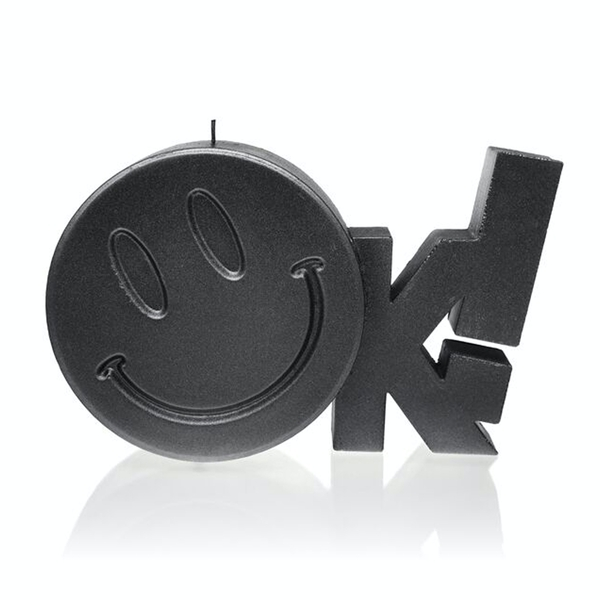 Steel OK Sign Candle