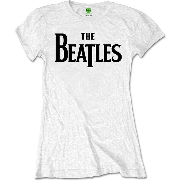 The Beatles - Drop T Logo Women's Small T-Shirt - White