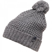 French Connection Bobble Hat Grey Black Ecru