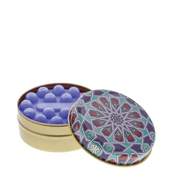 Blue and Aqua Spirograph with Lavender Soap